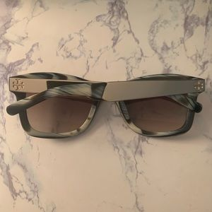 Tory Burch Green and Gold Sunglasses